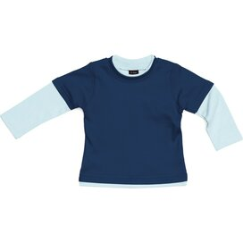 Baby Layered Skater Top Slate Blue/Dusty Blue