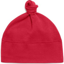 Baby One-knot Hat Red