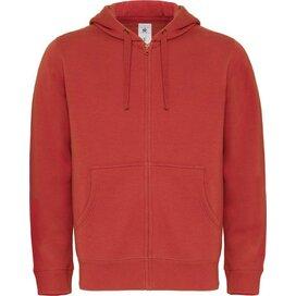 Hooded Full Zip Men Red