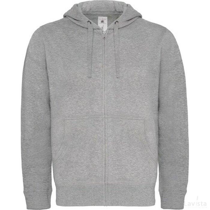 Hooded Full Zip Men Heather Grey