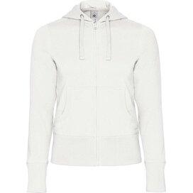 Hooded Full Zip Women White
