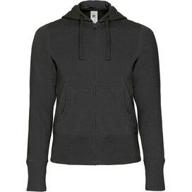 Hooded Full Zip Women Black