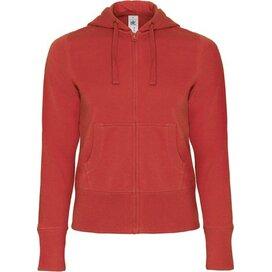 Hooded Full Zip Women Red