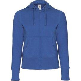 Hooded Full Zip Women Royal Blue