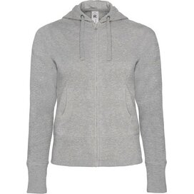 Hooded Full Zip Women Heather Grey