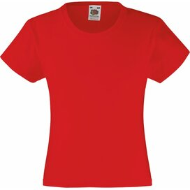 Girls Valueweight T Red