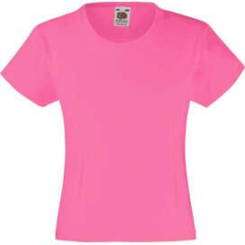 Girls Valueweight T Fuchsia