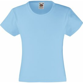 Girls Valueweight T Sky Blue