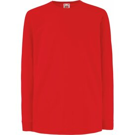 Kids Valueweight T Longsleeve Red