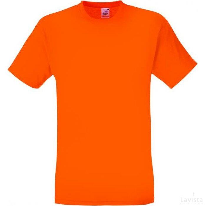 T-shirt Fruit of the Loom Screen Stars Original Full-Cut T Oranje