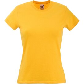 T-shirt Fruit of the Loom Lady-Fit Valueweight T Sunflower