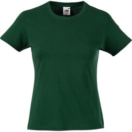 T-shirt Fruit of the Loom Lady-Fit Valueweight T Bottle Green