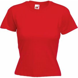 T-shirt Fruit of the Loom Lady-Fit Valueweight T Red
