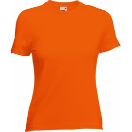 T-shirt Fruit of the Loom Lady-Fit Valueweight T Orange