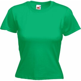 T-shirt Fruit of the Loom Lady-Fit Valueweight T Kelly Green