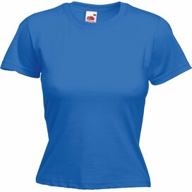 T-shirt Fruit of the Loom Lady-Fit Valueweight T Royal Blue
