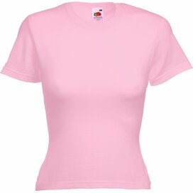 T-shirt Fruit of the Loom Lady-Fit Valueweight T Light Pink