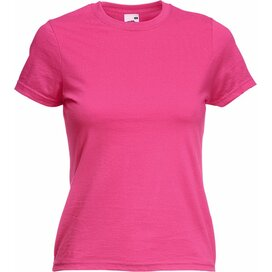 T-shirt Fruit of the Loom Lady-Fit Valueweight T Fuchsia