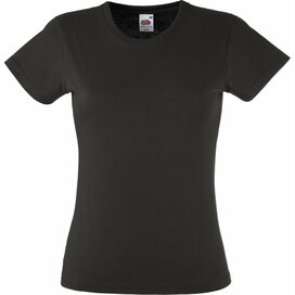 T-shirt Fruit of the Loom Lady-Fit Valueweight T Charcoal