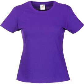 T-shirt Fruit of the Loom Lady-Fit Valueweight T Purple