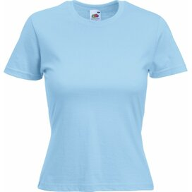 T-shirt Fruit of the Loom Lady-Fit Valueweight T Sky Blue