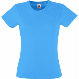 T-shirt Fruit of the Loom Lady-Fit Valueweight T Azure Blue