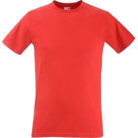 T-shirt Fruit of the Loom Fitted Valueweight T Red