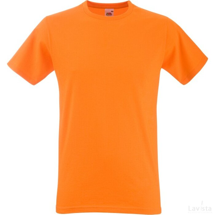 T-shirt Fruit of the Loom Fitted Valueweight T Orange