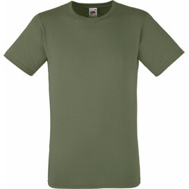 T-shirt Fruit of the Loom Fitted Valueweight T Olive Green