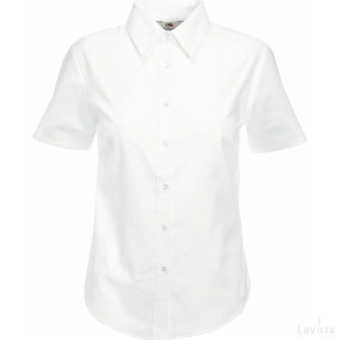 Lady-Fit s/s Oxford Shirt White