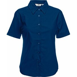 Lady-Fit s/s Oxford Shirt Navy