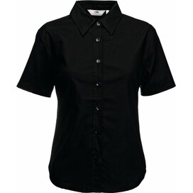 Lady-Fit s/s Oxford Shirt Black
