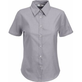 Lady-Fit s/s Oxford Shirt Oxford Grey