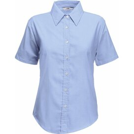 Lady-Fit s/s Oxford Shirt Oxford Blue