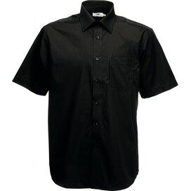 Men s/s Poplin Shirt Black