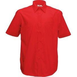Men s/s Poplin Shirt Red