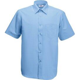 Men s/s Poplin Shirt Mid Blue