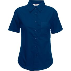 Lady-Fit s/s Poplin Shirt Navy