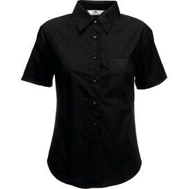 Lady-Fit s/s Poplin Shirt Black