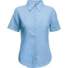 Lady-Fit s/s Poplin Shirt Mid Blue