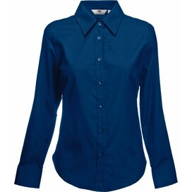 Lady-Fit longsleeve Oxford Shirt Navy