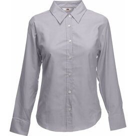 Lady-Fit longsleeve Oxford Shirt Oxford Grey