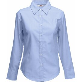Lady-Fit longsleeve Oxford Shirt Oxford Blue