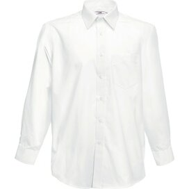 Men longsleeve Poplin Shirt White