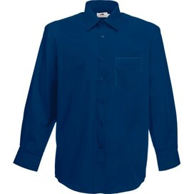 Men longsleeve Poplin Shirt Navy