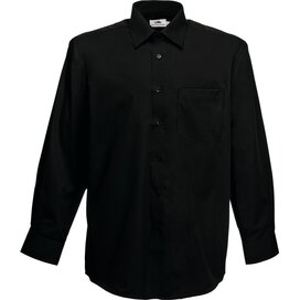 Men longsleeve Poplin Shirt Black