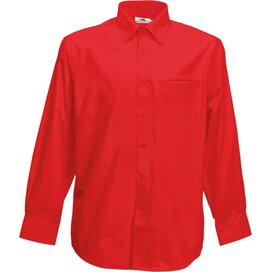 Men longsleeve Poplin Shirt Red