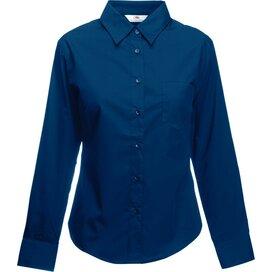 Lady-Fit longsleeve Poplin Shirt Navy