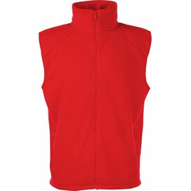 Sleeveless Fleece Red