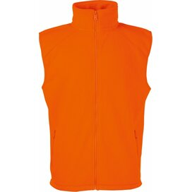 Sleeveless Fleece Bright Orange
